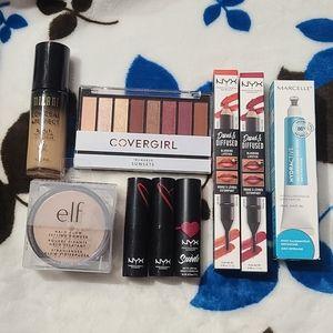 Nyx lipstick/2/1 Foundation/setting powder/eye sha